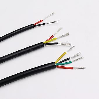 1m 2 Core Silicone Rubber Cable Soft Sheath High Temperature Electronic Signal