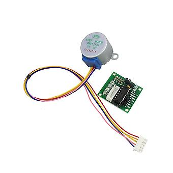 Smart elektronikk fase dc gear stepper motor + uln2003 driverkort for diy kit