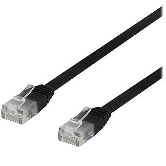 Deltaco, Flat Network Patch Cable - 30 cm
