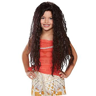 Moana Disney Vaiana Óceánia Polinézia Native Princess Hawaiian Girls Jelmez Paróka