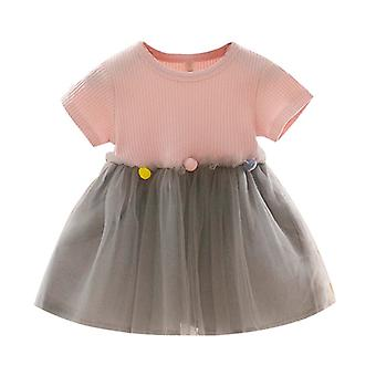 Fashion Spring Dresses Toddler Kids Baby Patchwork Tulle Casual Clothes