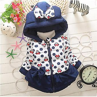 Winter Baby Jackets For Girls Clothes Kids Hooded Coats Toddler Warm Minnie Mickey Infant Boys Outerwear