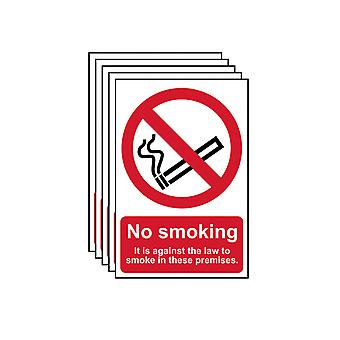Scan No Smoking In These Premises PVC 200 x 300mm SCA05675