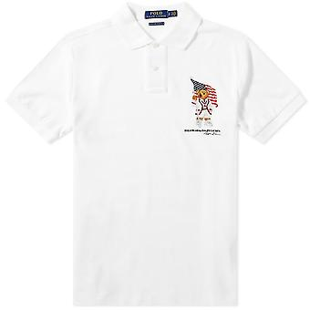 Teddy Bear Flag Polo Shirt