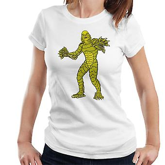 The Creature From The Black Lagoon Full Body Illustration Women's T-Shirt