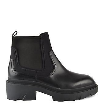 الرماد الأحذية مترو تشيلسي أحذية جلدية الأسود