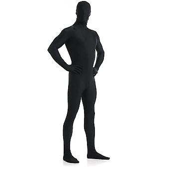 Altskin Voksen / Barn Full Body Stretch Stoff Zentai Dress - Glidelås Tilbake Ett stykke Stretch Dress Kostyme - svart