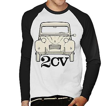Citro�n 2CV For Light Men's Baseball Long Sleeved T-Shirt