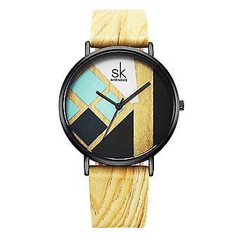 SK K0079 المرأة الإبداعية الساعات عارضة نمط اللباس حزام الجلود كوارتز ووتش