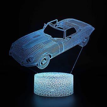 Child gift 3D Touch Light Night 7 colors remote control - Voiture #127
