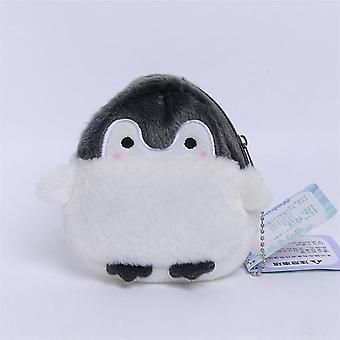 Söpö pingviini pehmo kukkaro kortti lompakko riipus lelu