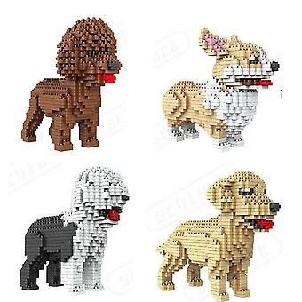 Cartoon Mini Blocks Dog Series -