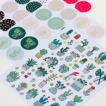 Cactus Stickers Hygge Set of 210 Stickers Craft / Scrapbooking