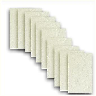 10 Ivory (Cotton White) Applique Card Insert For Mini Pocket Small