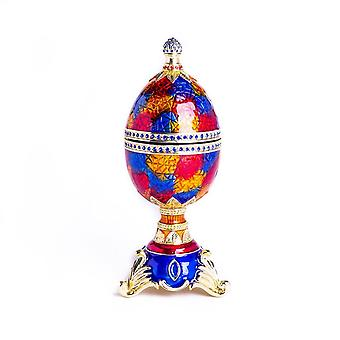Colorful Music Playing Faberge Egg Trinket Box