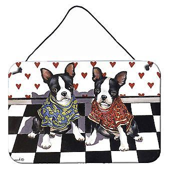 بوسطن الكلب جرو الحب الجدار أو الباب شنقا يطبع
