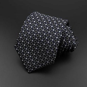 Novo clássico flor de listras de cor sólida floral jacquard necktie acessórios