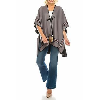 Fleece Reversible Poncho