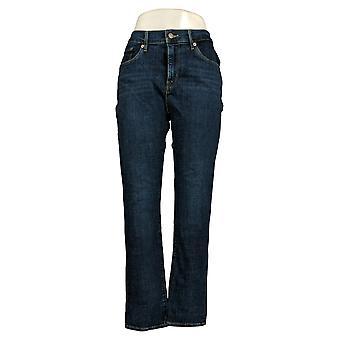 ليفي & apos;ق المرأة & apos;ق الجينز القطن الساق مستقيم 5 جيوب الأزرق