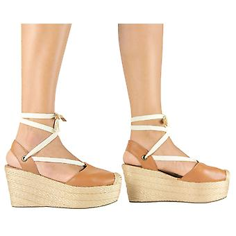 Espadrille Sandals Silvia Cobos Lace Up Honey
