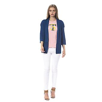 Trussardi Jeans U Indigo Sweater Crepe Viscose Cardigan