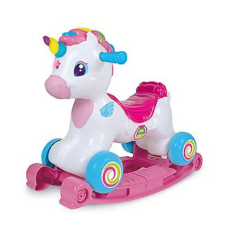 Clementoni 61764 unicorn ride on 3 in 1, multicoloured