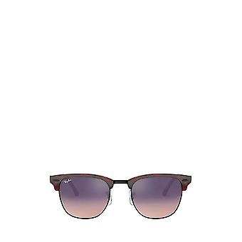 Ray-Ban RB3016 transparent red on havana unisex sunglasses