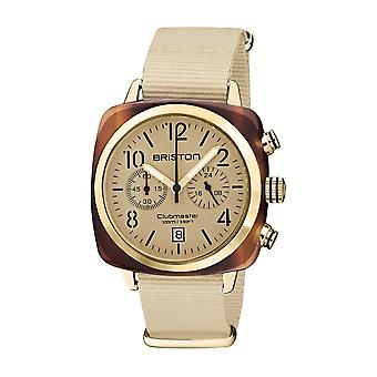 Briston 20140.PYA.T.39.NTV Clubmaster Classic Terracotta Acetate Wristwatch Cream