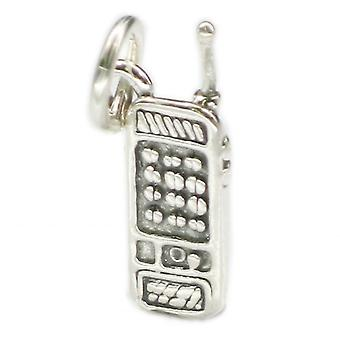 Mobile Phone Sterling Silver Charm .925 X 1 Cell Phones Charms - 3671