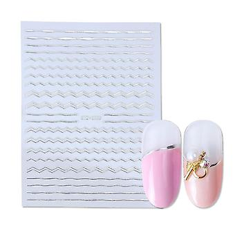 Geometrische Nail Art Sticker, Stickers Hollow Tape Liner Stripe Lijm Slider