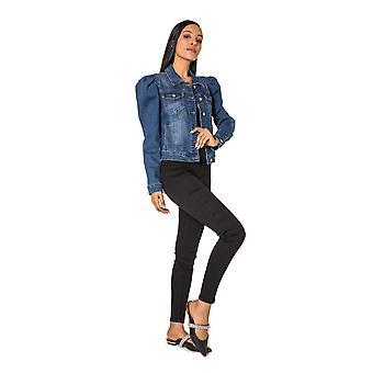 Women Denim Jeans Jacket Stretch transition Blazer Collar Biker Basic