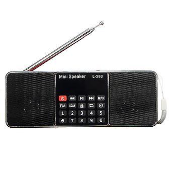 L-288 Mini Portable LCD FM Radio Stereo MP3 Music Player Micro SD TF USB AUX Outdoor Speaker