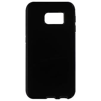 Funda de silicona de brillo alto de Verizon para Samsung Galaxy S6 borde - negro