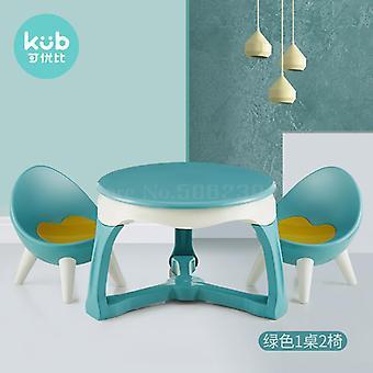 子供&アポス;sテーブルと椅子セット幼稚園学習テーブルチェアベビーゲームライティング