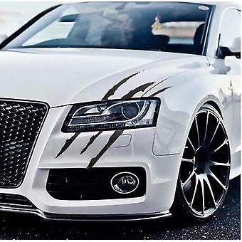Auto Car Stickers, Reflective Monster Claw Scratch Stripe Marks Headlight Decal
