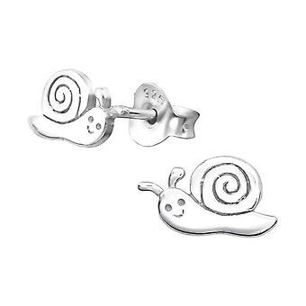 Children's Sterling Silver Snail Stud Earrings