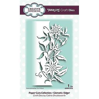 Kreative uttrykk Papir Kutt Samling Cutting Dies - Clematis Edger