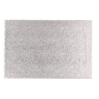 """12&x 10"""" (304 x 254mm) Cake Board Oblong Silver Fern - singel"""