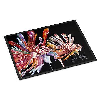 Caroline's Treasures JMK1114JMAT Lionfish Zerbino interno o esterno, 24 x 36, Multicolor