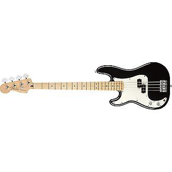 Fender player precision electric bass guitar - maple lh fingerboard - black