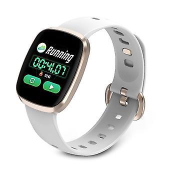 Smart Watch, Fitness Tracker Watch Touch Screen med blodtrykspuls søvnmåler i blodet Ring til SMS SNS Alert Music Control Vandtæt til Unisex kompatibel med Android IPhone-Golden1