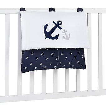 Navy Anchor Patch tengeri hímzett pelenka táska