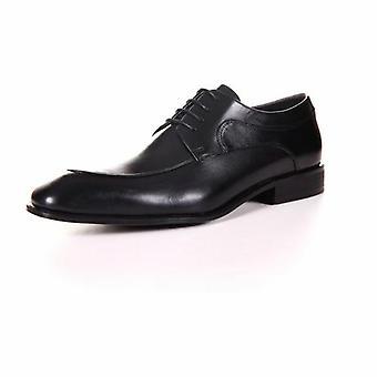 Men's Genuine Leather Derby Formal Black Shoes By Enaaf #ys06blk