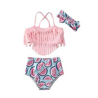Baby Swimwear Tassel Watermelon Swimsuit, Beach Bathing Swimsuits