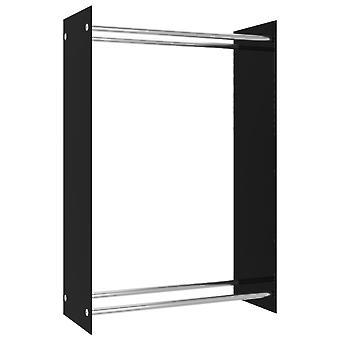 Brennholzregal Schwarz 80x35x120 Cm Glas
