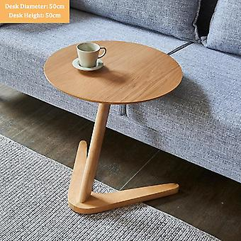 Nordic minimalistic style mahogany hard wood side table