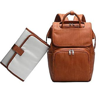 New Unisex Quality Pu Leather Baby Diaper Bag