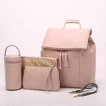Pu Leather Baby Diaper Bag, Backpack Stroller Organizer Nappy Bags