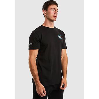 Nautica Competition Patroon T-Shirt - Svart