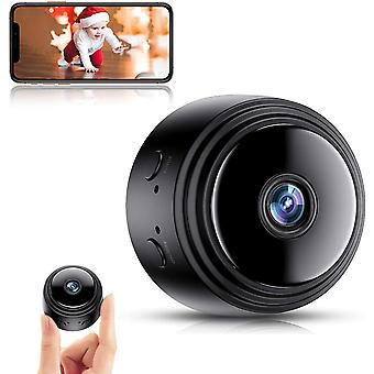 Mini Spy Camera, Full HD 1080P WiFi Surveillance Wireless Hidden Spy Cameras with Night Vision and Motion Detection (Black)